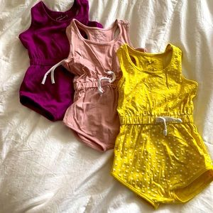 June and January 3/4 romper BUNDLE- EUC